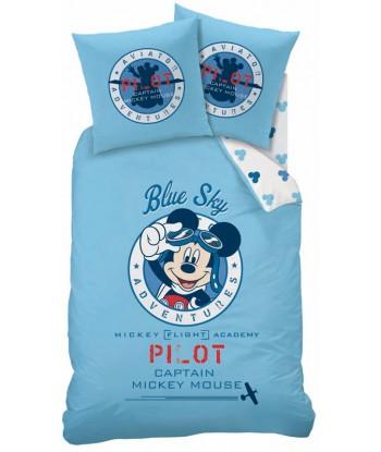 Parure Housse de Couette Disney Mickey Pilote