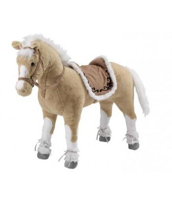 Peluche cheval à monter avec sabot gris