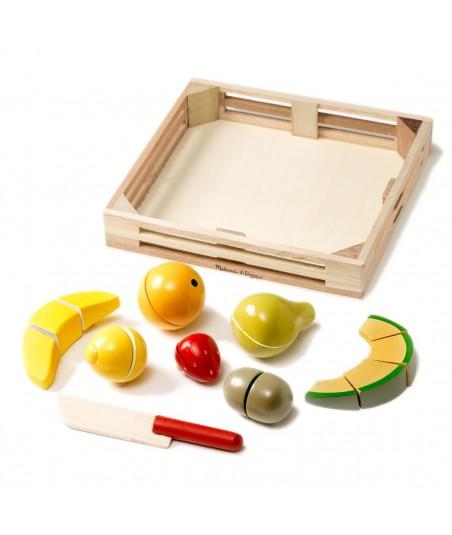 Fruit en bois à couper