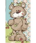 Peluche Nici Ours gris et beige dangling 35 cm