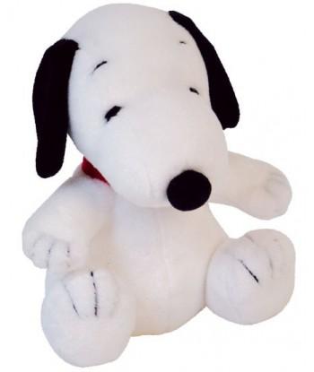 Peluche Snoopy noir et blanc 30 cm assis
