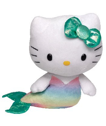 Peluche Hello Kitty Sirène 15 cm