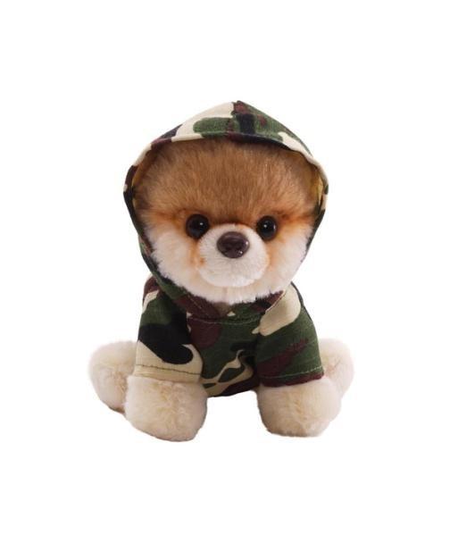 Peluche chien Boo camouflage 12.5 cm