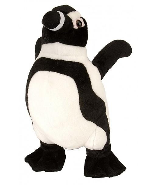 Peluche Pingouin 30 cm wild republic noir et blanc